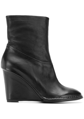 Del Carlo wedge ankle boots - Black