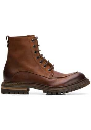 Del Carlo lace-up boots - Brown