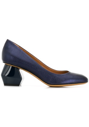 Emporio Armani geometric heel pumps - Blue