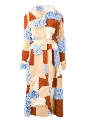 Off-White patchwork coat - Neutrals