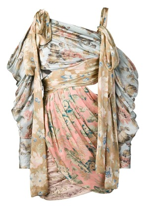 Zimmermann asymmetric floral print dress - Neutrals