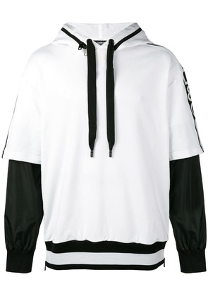 Dolce & Gabbana removable sleeve hoodie - White