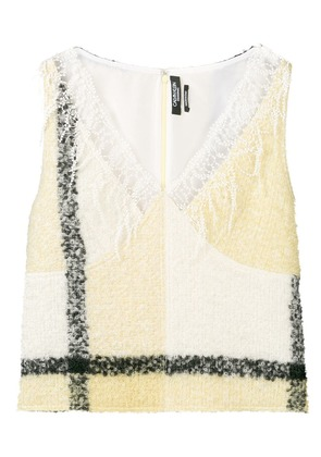 Calvin Klein 205W39nyc lace detailed top - Yellow