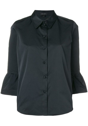 Marc Jacobs frill-hem fitted blouse - Black