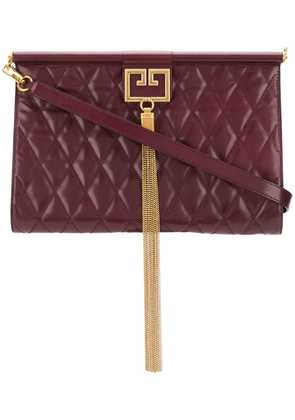 Givenchy Gem oversized quilted clutch - Red