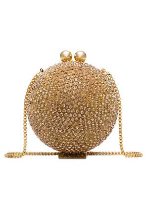 Marzook Halograph crystal orb clutch - Gold