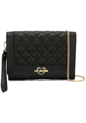 Love Moschino quilted crossbody - Black