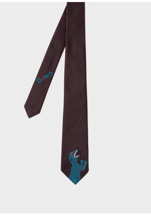 Men's Black 'Dino' Narrow Silk Tie