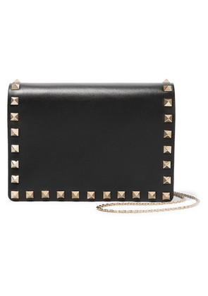 Valentino - Valentino Garavani The Rockstud Leather Shoulder Bag - Black