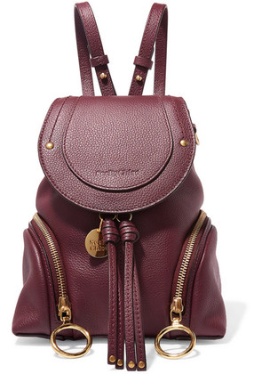 See By Chloé - Olga Small Textured-leather Backpack - Burgundy