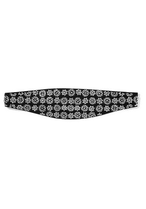Saint Laurent - Embellished Silk Waist Belt - Black
