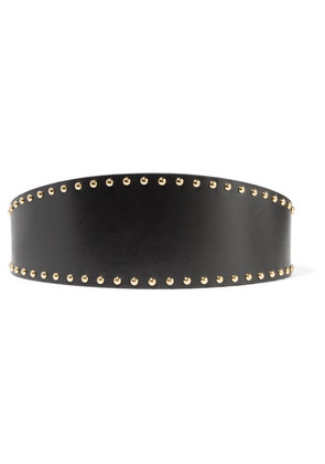 Alexander McQueen - Studded Leather Waist Belt - Black