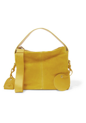 Acne Studios - Leather-trimmed Suede Tote - Mustard