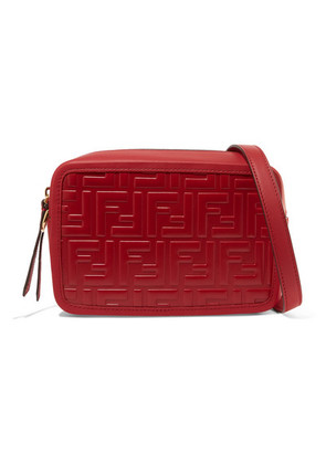 Fendi - Embossed Leather Camera Bag - Red