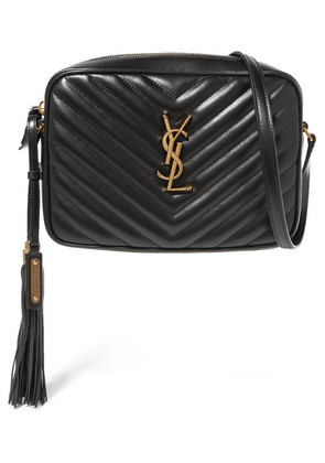Saint Laurent - Lou Medium Quilted Leather Shoulder Bag - Black