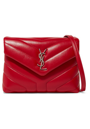 Saint Laurent - Loulou Quilted Leather Shoulder Bag - Red