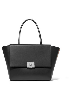CALVIN KLEIN 205W39NYC - Bonnie Large Grosgrain-trimmed Leather Tote - Black