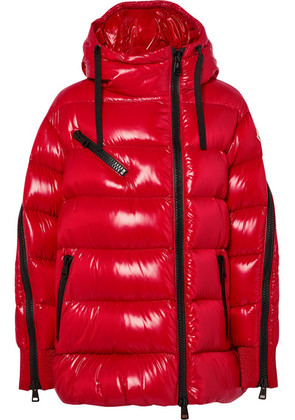 Moncler - Liriope Hooded Quilted Glossed-shell Down Jacket - Red