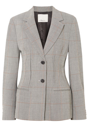 3.1 Phillip Lim - Checked Wool-blend Blazer - Gray