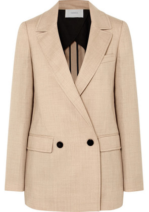 CASASOLA - Double-breasted Wool Blazer - Beige