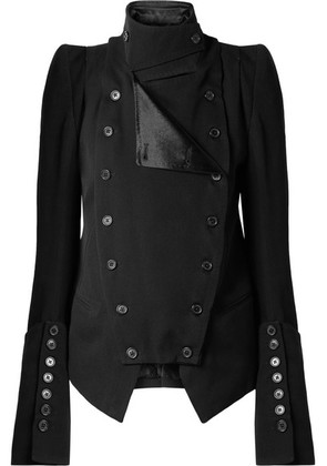 Ann Demeulemeester - Convertible Wool And Cotton-blend Blazer - Black