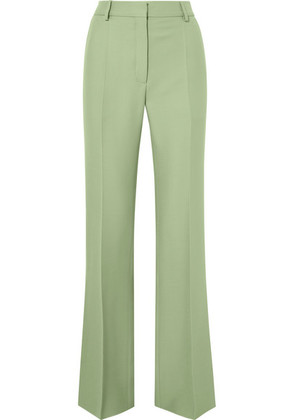 Valentino - Silk-blend Crepe Straight-leg Pants - Mint