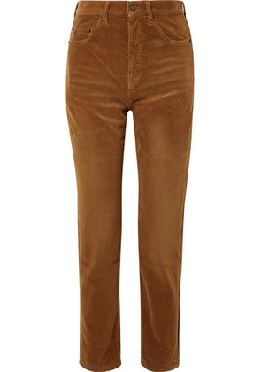 Saint Laurent - Cotton-corduroy Straight-leg Pants - Tan