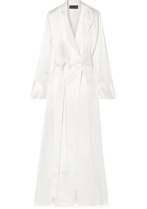 Michael Lo Sordo - Double-breasted Silk-satin Gown - Ivory