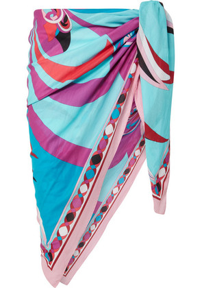 Emilio Pucci - Printed Cotton-voile Pareo - Pink