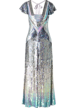 Temperley London - Ruth Cutout Sequined Tulle Gown - Silver