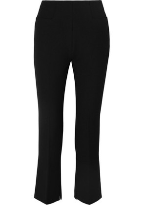 Roland Mouret - Goswell Cropped Crepe Flared Pants - Black