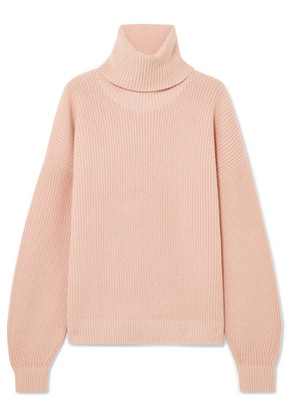 Tory Burch - Inez Wool And Cashmere-blend Turtleneck Sweater - Pastel pink