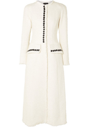 Alexander Wang - Button-detailed Tweed Coat - Ivory