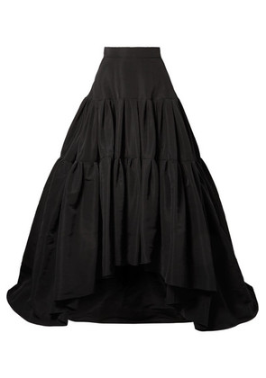 Reem Acra - Tiered Silk-faille Maxi Skirt - Black