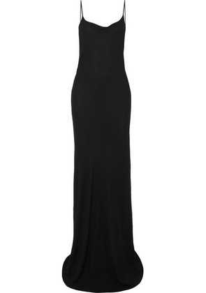 Ann Demeulemeester - Open-back Jersey Maxi Dress - Black