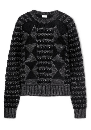 Saint Laurent - Jacquard-knit Sweater - Black