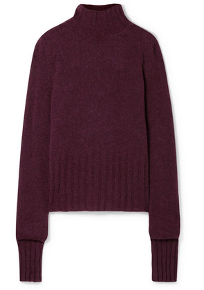 Ann Demeulemeester - Alpaca-blend Turtleneck Sweater - Burgundy