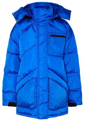 Givenchy - Hooded Felt-trimmed Quilted Shell Jacket - Blue