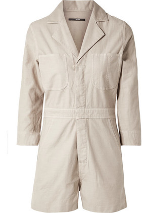J Brand - Cotton-canvas Playsuit - Beige
