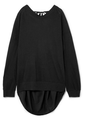Ann Demeulemeester - Draped Cotton And Silk Sweater - Black