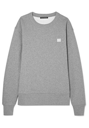 Acne Studios - Fairview Face Appliquéd Cotton-jersey Sweatshirt - Light gray