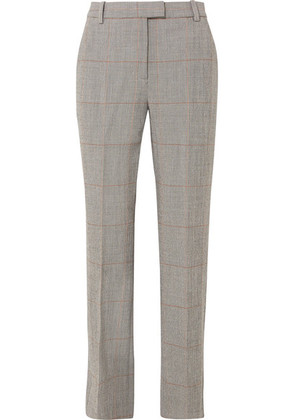 3.1 Phillip Lim - Checked Wool-blend Straight-leg Pants - Gray