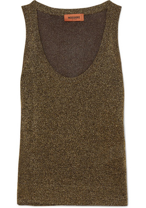 Missoni - Lurex Tank - Gold