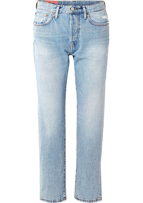 Acne Studios - 1997 Distressed High-rise Straight-leg Jeans - Light denim