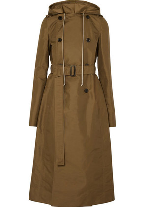 Rick Owens - Hooded Shell Trench Coat - Army green