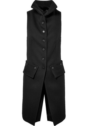 Ann Demeulemeester - Wool-twill And Satin Vest - Black