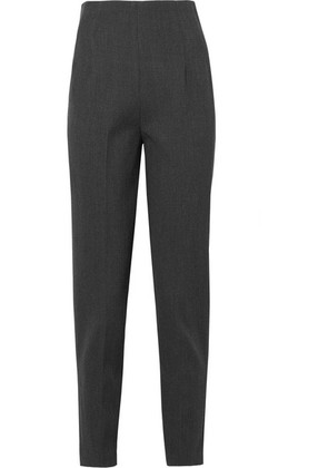 The Row - Cat Stretch-wool Twill Tapered Pants - Gray