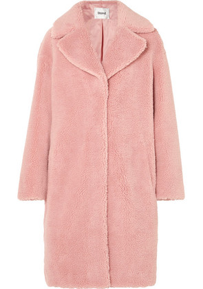 STAND - Camille Faux Shearling Coat - Baby pink