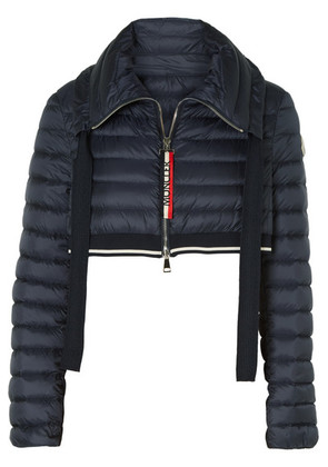 Moncler - Cropped Quilted Shell Down Jacket - Navy