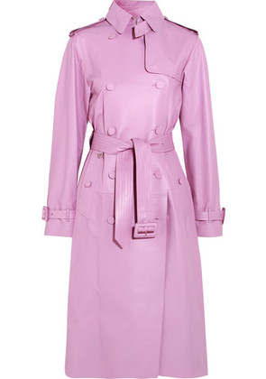 Valentino - Leather Trench Coat - Pink